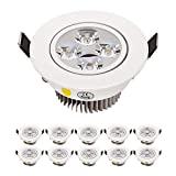 LED Downlight Recessed Lighting Dimmable Warm White 110V 360LM 4W Equal 48W Halogen lamp Fixture Round for home deco ect Complete Recessed Lighting Kits Pack of 10