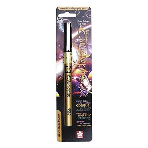 Sakura 47381 Blister Card Pentouch Calligrapher Marker Pen, Gold ()