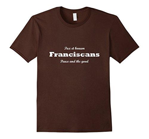 Mens Traditional Catholic Tees: Franciscan Shirt 2XL Brown