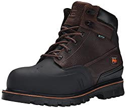 Timberland PRO Men's 6 Inch Rigmaster XT Steel Toe WP Work Boot, Brown Tumbled Leather, 7.5 W US