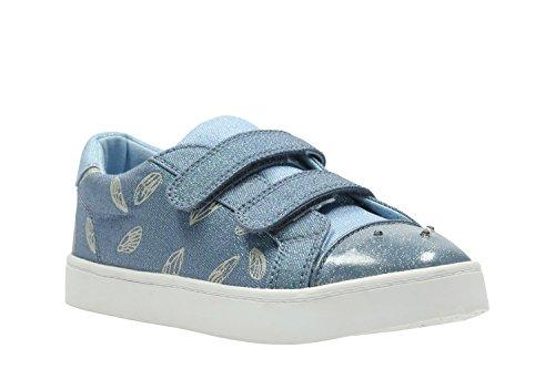 Clarks Gris Zapatos de para Gris Cordones de Lona Pattielola Mujer Jnr rzqEwBr