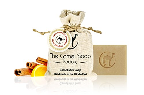 Camel Milk Soap Süße Orange und Zimt 100% natürliche Inhaltsstoffe vegan (1 Stück - 100g)