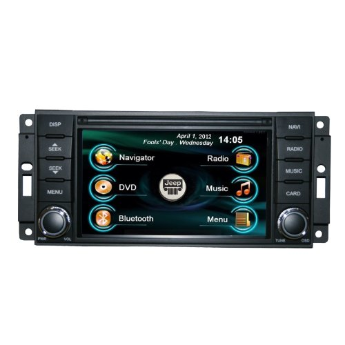 OEM REPLACEMENT IN-DASH RADIO DVD GPS NAVIGATION HEADUNIT FOR JEEP WRANGLER RUBICON WITH REAR VIEW CAMERA