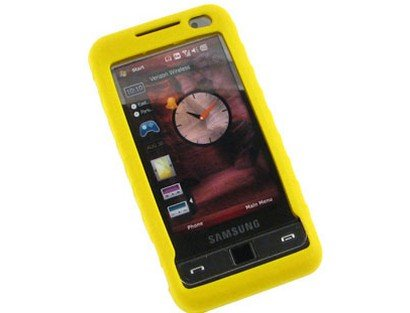 - Phone Protector Silicone Gel Skin Yellow Case For Samsung Omnia i910