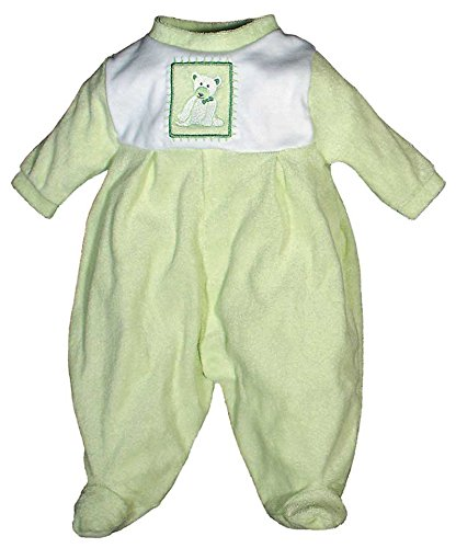 Raindrops Furry Friends Teddy Bear Footie Gift Set, Pistachio Green, 3-6 Months, 4 Piece