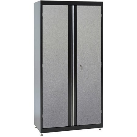Sandusky 46''L x 24''D x 72''H Steel Jumbo Garage Cabinet | Full-length Pull Handles | Fixed Middle Shelf. by Sandusky
