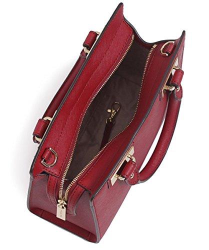 4bced1e9e839 MICHAEL Michael Kors Quinn Small Satchel Bag Cherry One Size  Amazon.co.uk   Shoes   Bags