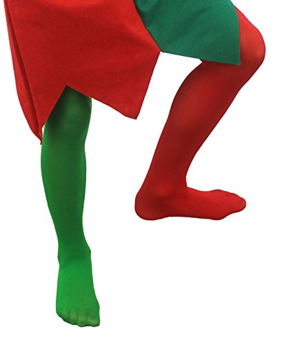 295cfbcb52c797 ELF TIGHTS CHILDS CHRISTMAS FANCY DRESS KIDS UNISEX XMAS ACCESSORY RED GREEN  SANTAS HELPER CHEEKY ELVES (MEDIUM 7-10 YEARS): Amazon.co.uk: Toys & Games