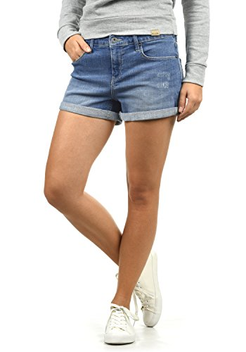BlendShe Andreja Pantaloncini Di Jeans Denim Shorts Da Donna   elasticizzato Light Blue Denim (29030)