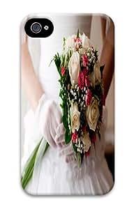 Bride Wedding Bouquet Custom iPhone 4s/4 Case Cover Polycarbonate 3D