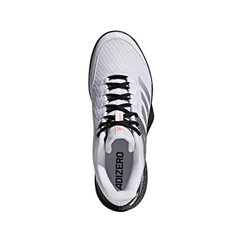 Pictures of adidas Men's Adizero Club 2 White/ AH2108 White/Matte Silver/Black 4