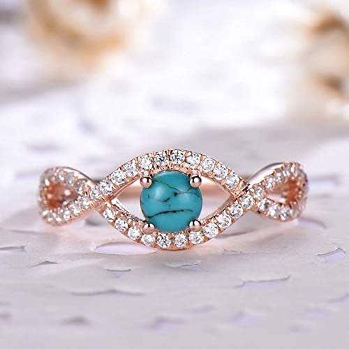 Black turquoise Engagement Ring CZ