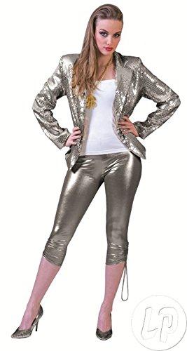 Chaqueta disco con lentejuelas plata mujer talla L – CALIDAD coolminiprix®