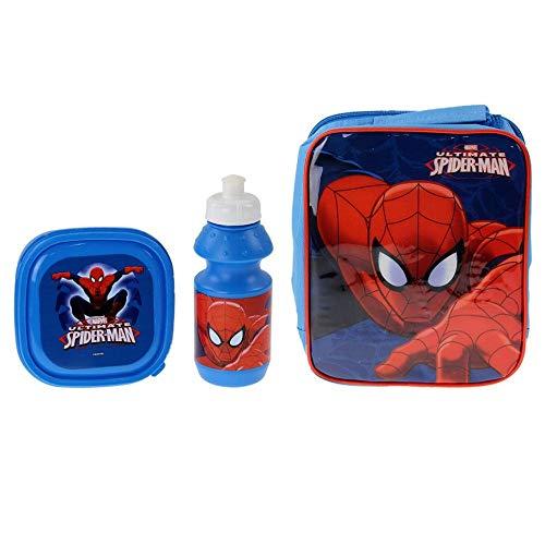 Marvel 4105V-6162 Bag/Sandwich Box and Bottle Ultimate Spiderman Lunch Set (3-Piece)