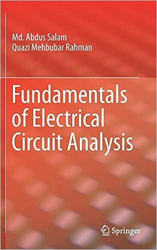 Fundamentals of Electrical Circuit Analysis: Md  Abdus Salam, Quazi