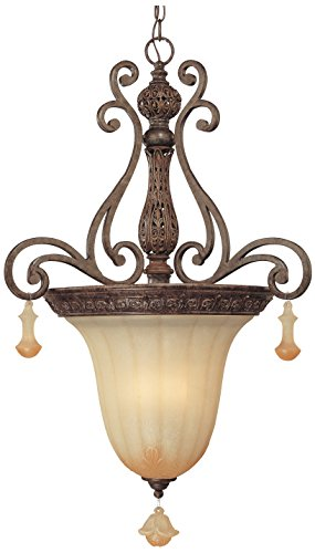 (Classic Lighting 71153 TS Riviera, Wrought Iron, Light Pendant, 21