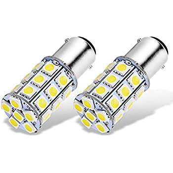 RV Bedroom 1076 1142 68 90 1004 Jtech 2x BA15D 27 SMD LED Red Light Bulb for Boat Marine