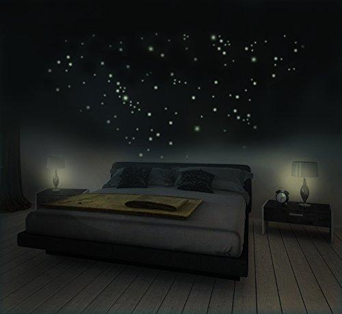 272 Leuchtpunkte für Sternenhimmel, Fluoreszierend und im Dunkeln leuchtend, extra starke Leuchtkraft und lange Leuchtzeit, Achtung! Jetzt mit optimierter Haftkraft!