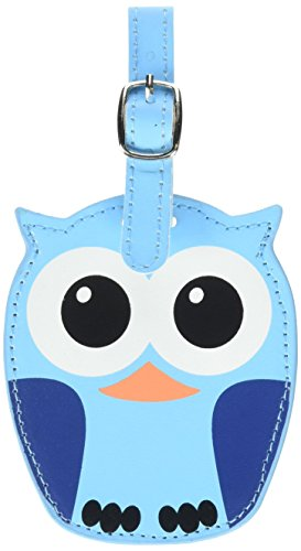 Kikkerland Whoo Owl Luggage Tags, Assorted Blue and Pink (TT12-A)