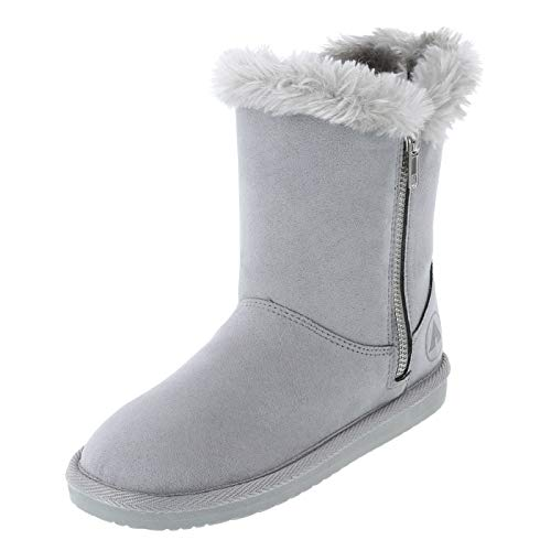 Airwalk Grey Girls' Prim Cozy Boot 4 Regular (Airwalk Boots)