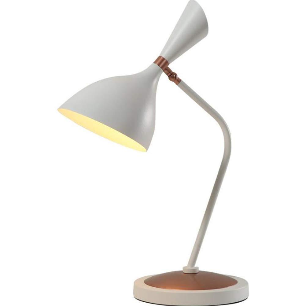 DDLONY Leselampe Minimalistische Schreibtischlampe Einstellbarer Kopf Schlafzimmer Wohnzimmer Couchtisch Büro Gift 110-220V E14