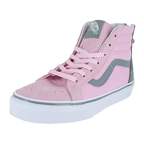 b046e0ac49 Galleon - VANS KIDS K SK8-HI ZIP FLOWER PINK MIST MONUMENT SIZE 7