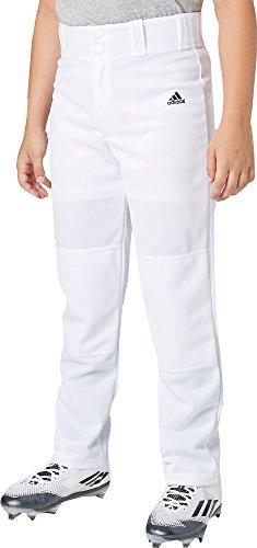 Adidas Boys' Triple Stripe Open Bottom Baseball Pants (White, XL)