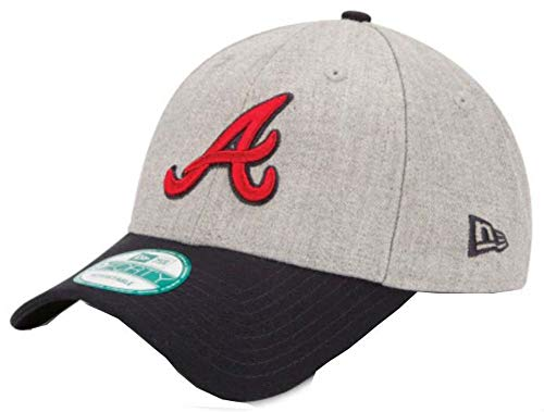 MLB Atlanta Braves The League Heather 9Forty Adjustable Cap, One Size, Heather