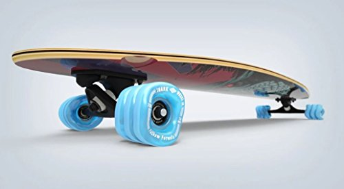 Shark Wheel Fathom by Pintail Longboard Skateboard Complete, Stikini - Shark Complete Skateboard