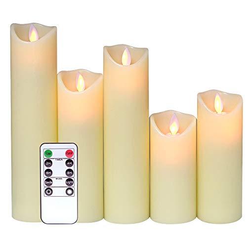 (Eldnacele Dancing Flame Flameless Candle 5
