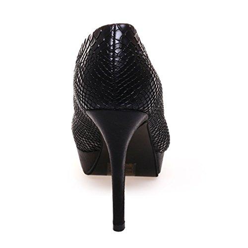 Modeuse Negro De La Vestir Material Sintético Zapatos Mujer OxwddqBgR