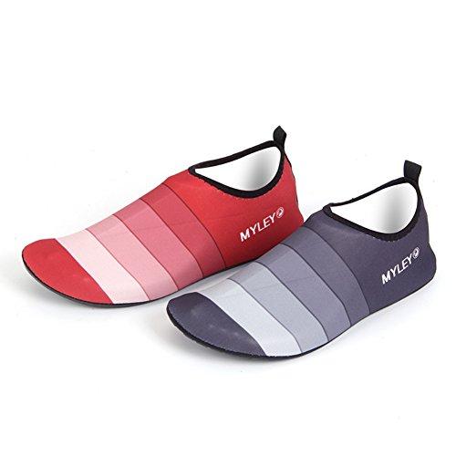 Barfuß Schuhe Schuhe für Grau Socken Leezo Swim Yoga Erwachsene Surf Aqua Strand Pool Strand Schwimmen Wasser Unisex Xxqxg0nTw