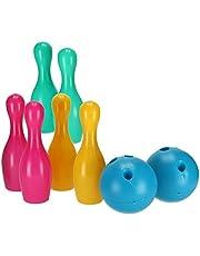 8 Parça Renkli Bowling Seti Skittles Seti Açık Oyunları / Kapalı Oyun çocuk