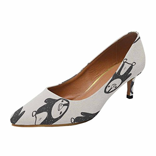 Talon De Chaton Faible Dinterestprint Womens Bout Pointu Robe Pompe Chaussures Pingouin Doodle Fond Multi 1