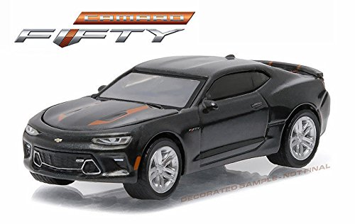 NEW 1:64 GREENLIGHT 50TH ANNIVERSARY SERIES 3 COLLECTION - GREY 2017 CHEVROLET CAMARO SS Diecast Model Car By Greenlight