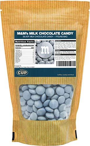 Silver Milk Chocolate M&M's Candy (1 Pound Bag)