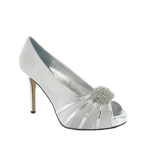 LEXUS compensée Silver Grey Argent Light femme Semelle r4gfqr