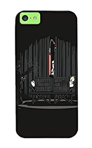meilinF000310d3782281 Tough Iphone 5c Case Cover/ Case For Iphone 5c(star Wars Black Minimalistic Stormtroopers Lightsabers Darth Vader Funny Magician Princess Leia Fun ) / New Year's Day's GiftmeilinF000