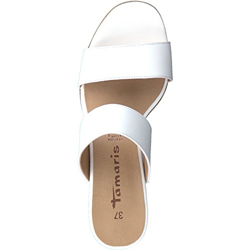 Donna Ciabatte 27231 Leather Tamaris White aqwE4C