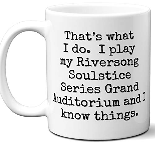 (Guitar Gifts Mug. Riversong Guitars Soulstice Series Grand Auditorium Guitar Players Lover Accessories Music Teacher Lover Him Her Funny Dad Men Women Card Pick Musician Acoustic Unique)
