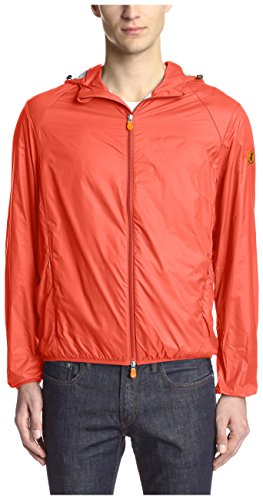 Save The Duck Men's Hooded Lightweight Jacket, Love Red, M by Save The Duck (Image #1)