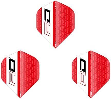 Red Dragon レッドドラゴン Hardcore Red&White RD Dart Flights スタンダード <F6430> ダーツ フライト