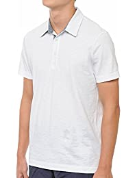 Premium Cotton Slub Jersey Short Sleeve Men's Polo T-Shirt with Side Slit Small - XX