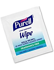 PURELL Hand Sanitizing Wipes, Alcohol Formula, Fragrance Free, 300 Count Individually Wrapped Hand Wipes - 9020-06-EC