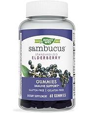 Sambucus Black Elderberry Gummies with Vitamin C and Zinc, 60 Gummies