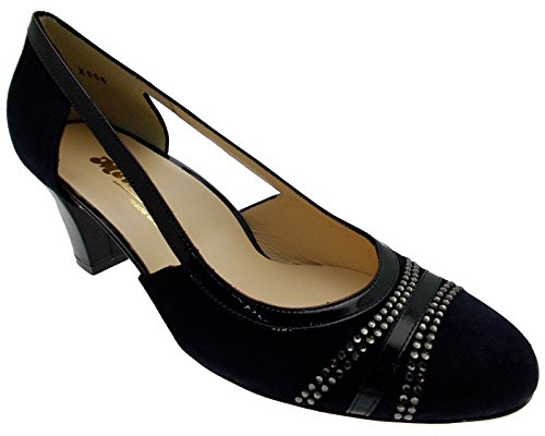 Zapato daim azul noche lados abiertos X556 art