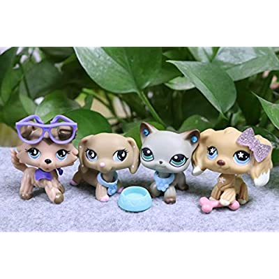 LPSOLD LPS Shorthair Cat 391 LPS Dachshund 909 LPS Collie 893 LPS Cocker Spaniel 748 Dogs Figure with Accessories Lot Kids Girls Gift: Toys & Games