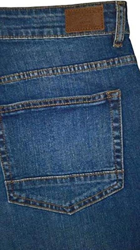 Marina del Rey Męskie duże rozmiary jeans bermudy szorty z rozciągliwego materiału Ben: Odzież