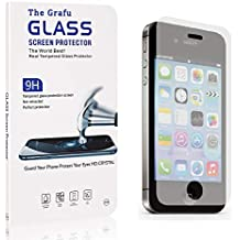 The Grafu Screen Protector Compatible with iPhone 4S / iPhone 4, Anti Scratch, 9H Hardness High Clarity Tempered Glass Screen Protector for iPhone 4S / iPhone 4, 4 Pack