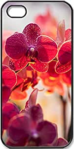 iPhone 5/5s Case Magenta-Orchids Case for Black iPhone 5 iPhone 5s